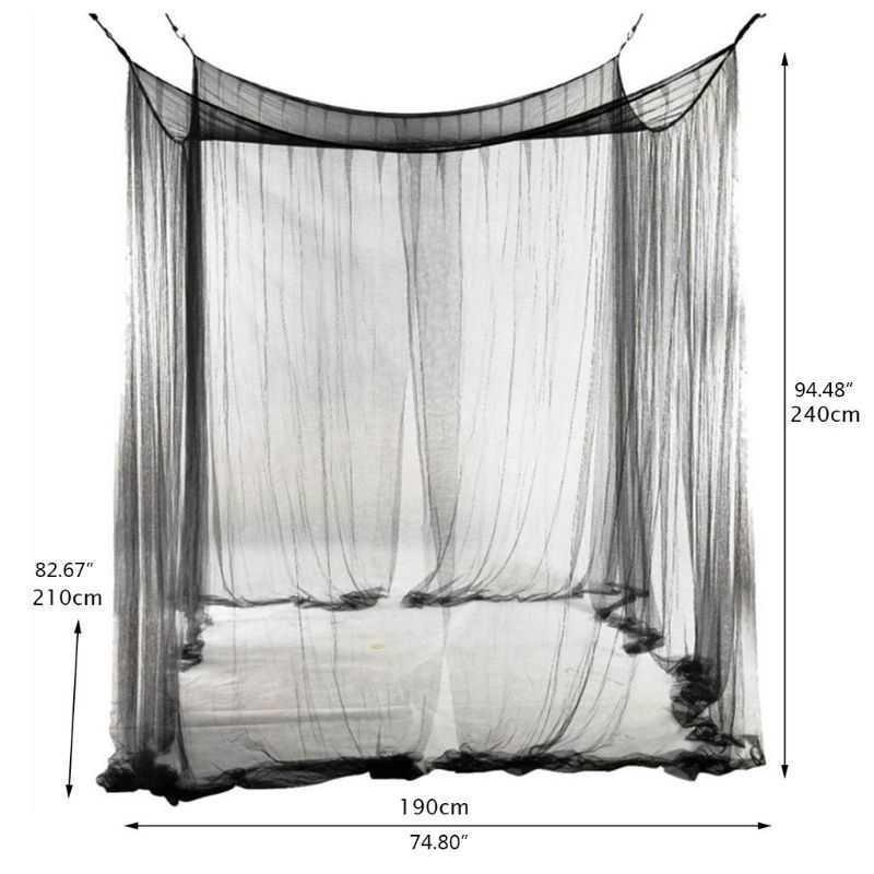 Mosquito net 4-corner Post Student Student Bed Bed Dimensione 190 210 x 240 cm Dropshipping