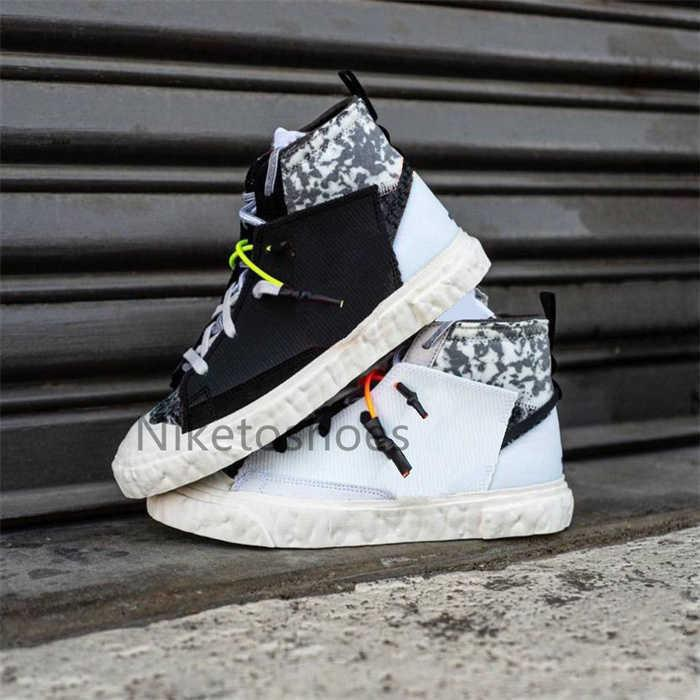 Readymade Shoe X Blazer Mid Sneaker Black White Outdoor Trainers Sports Sneakers Travis Skate Shoes