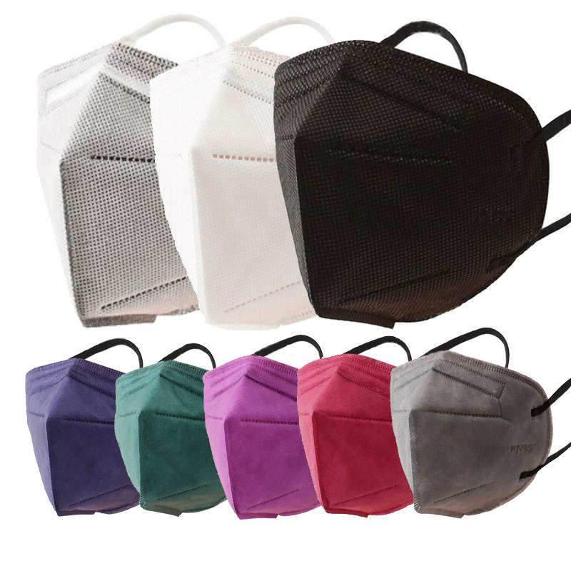 Kn95 maschera viso bianco 95% filtro 5 strati maschere per uomo donne spugna spugna respirativa respirazione carbonio respiro riutilizzabile reziabile facciale mascarilla