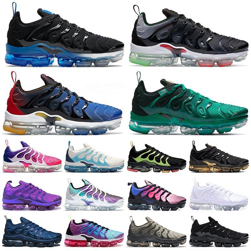 Nike Air VaporMax Plus Tn Plus Größe 13 Atlanta Männer Frauen Laufschuhe Alle Weiß Schwarz Royal Platinum Midnight Navy Turnschuhe Turnschuhe