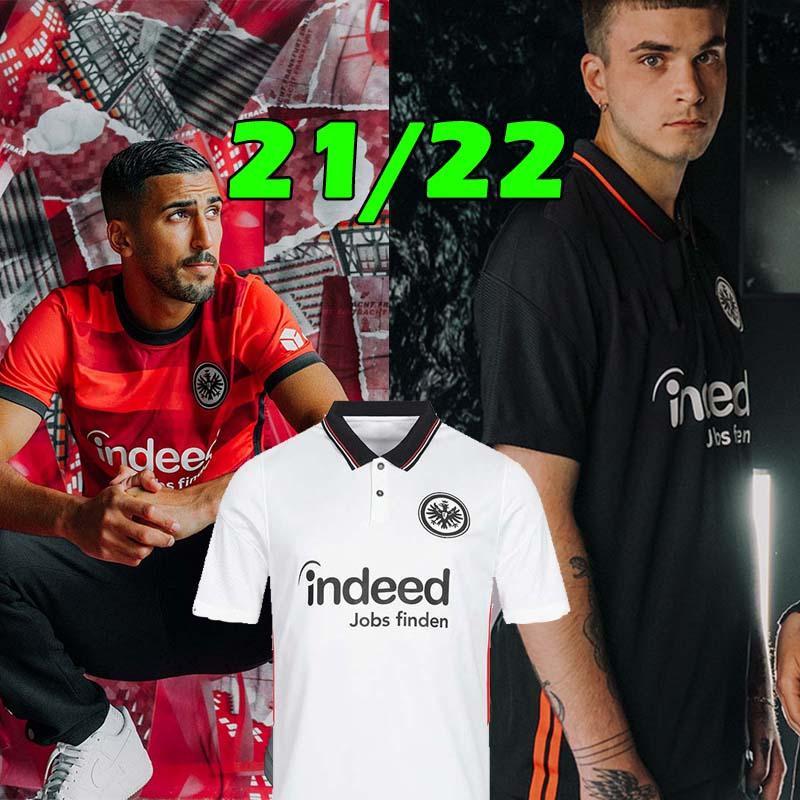 2021 2022 Frankfurt Futbol Forması Jovic Hinteregger Silva Kamada Jerseys 21 22 Trikot Des Fußballs Erkekler Kids Kits Futbol Gömlek
