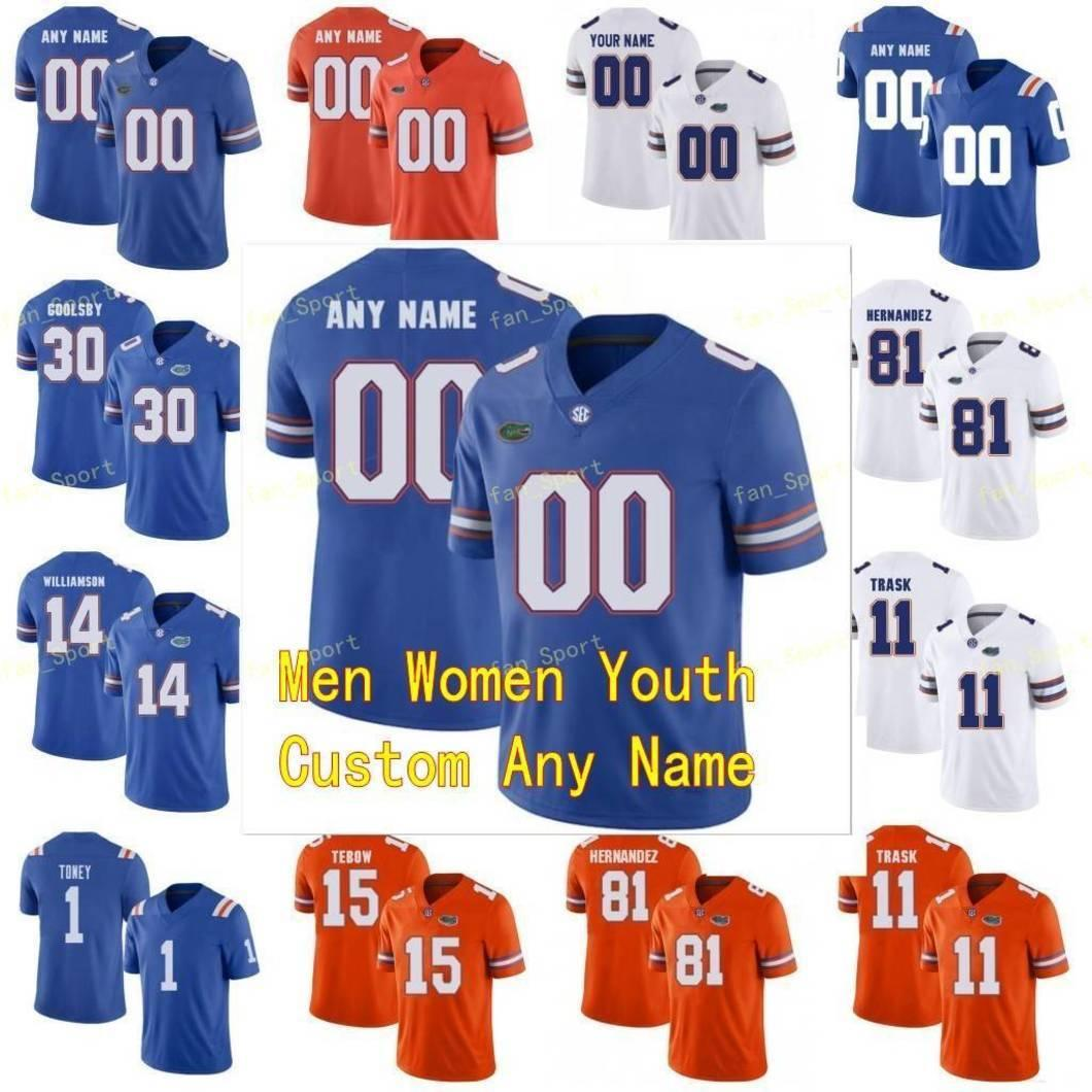 NCAA College Jerseys Florida Gators 15 Jacob Copeland 21 Trey Dean III 84 Kyle Pitts 5 Emory Jones 8 Trevon Grimes Custom Football Stitched