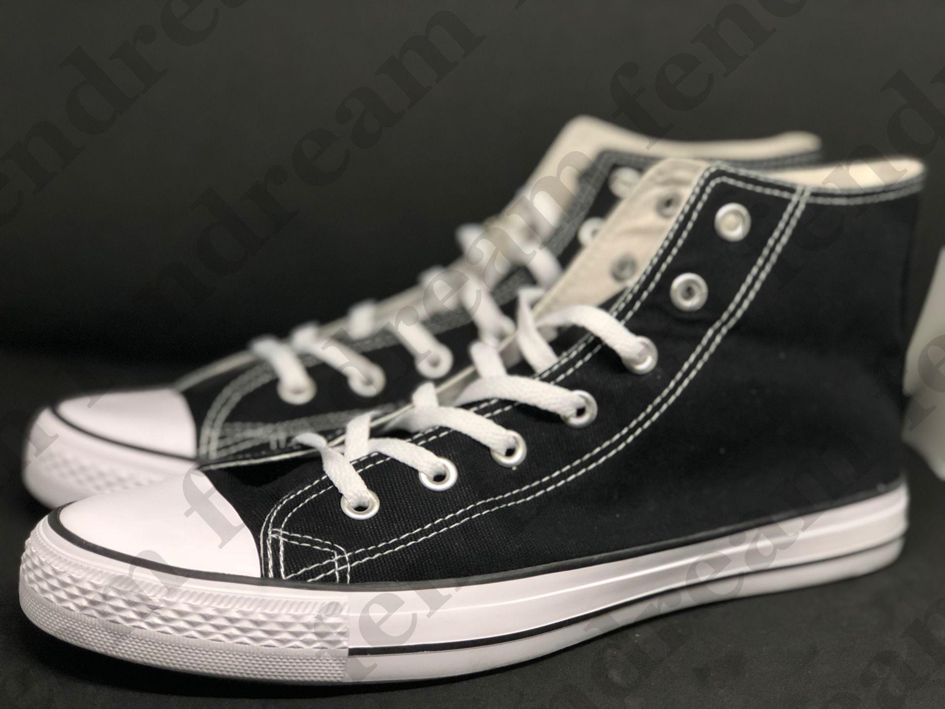 Big Size35-46 Unisex Low-Top High-Top Casual Lienzo Zapatos Adultos Mujeres Hombres 13 Colores Cubiado Sneaker Student Cómodo zapato plano