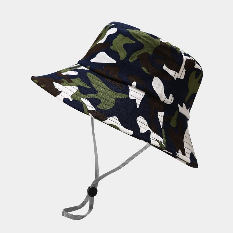 2021 Nuevo estilo de moda Joker Camuflaje Imprimir Cubo Sombrero Pescador sombrero al aire libre viaje sombrero sol gorras gorras para hombres y mujeres 169