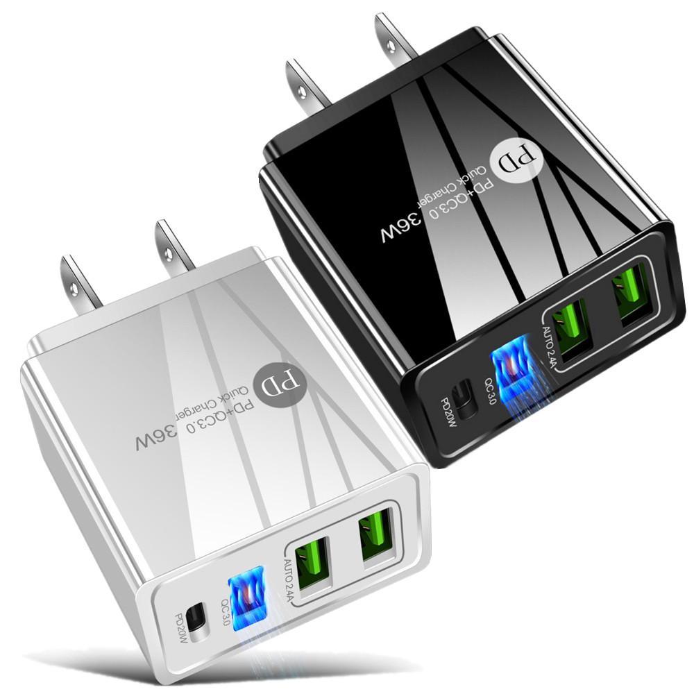스마트 빠른 빠른 충전기 36W USB C 유형 C PD 벽 충전기 EU US UK 전원 어댑터 아이폰 11 12 미니 프로 최대 SAMSUNG S20 S21 LG 안 드 로이드 전화