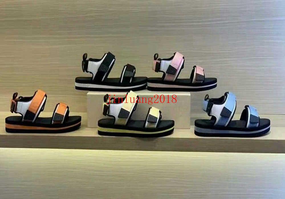 2021 роскошные женские сандалии дизайнеры повседневные туфли летние пляжные на открытом воздухе леди бренд флип флоп высококачественная платформа для платформы аркады не скользят плоские кроссовки 34-42