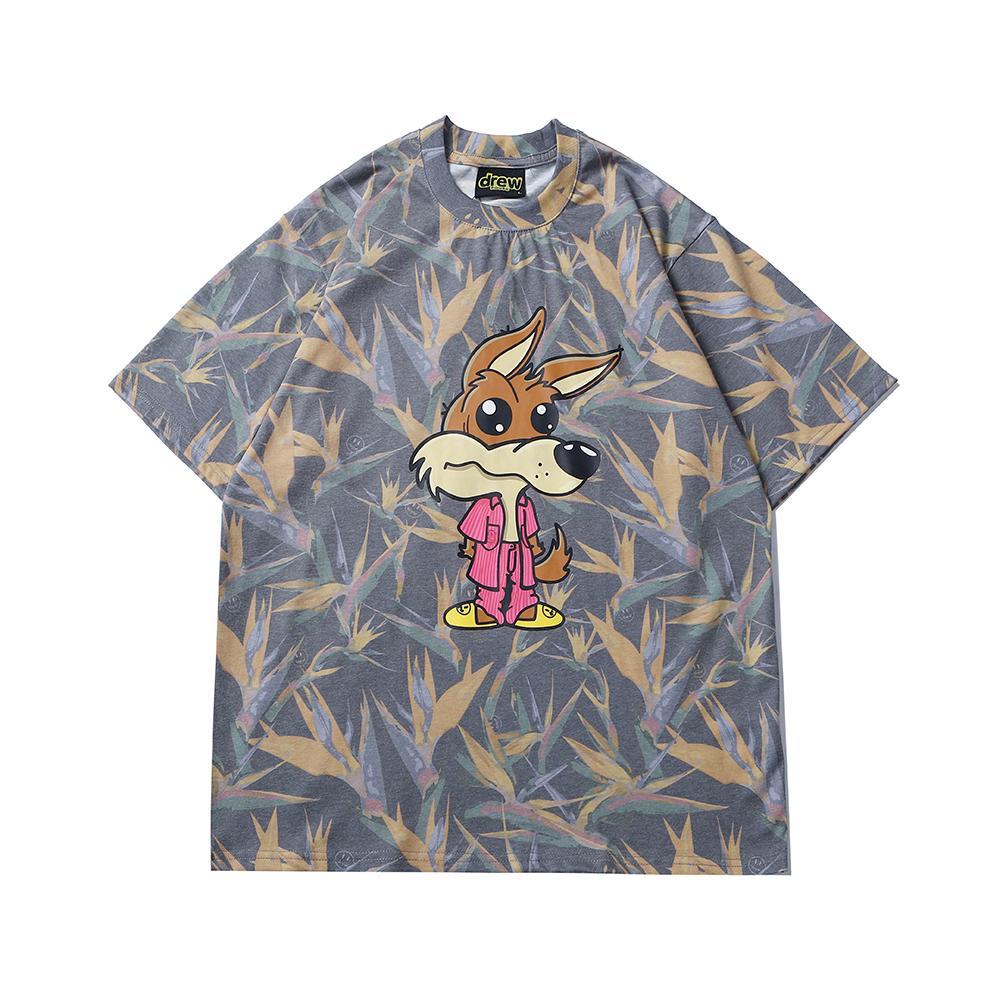 Drew House Klasik Mektuplar Kısa Kollu Erkek Tasarımcı T Gömlek Yüksek Kaliteli Kadın T Shirt Gülümseme Baskı Tee 819 Boyutu: S-XL