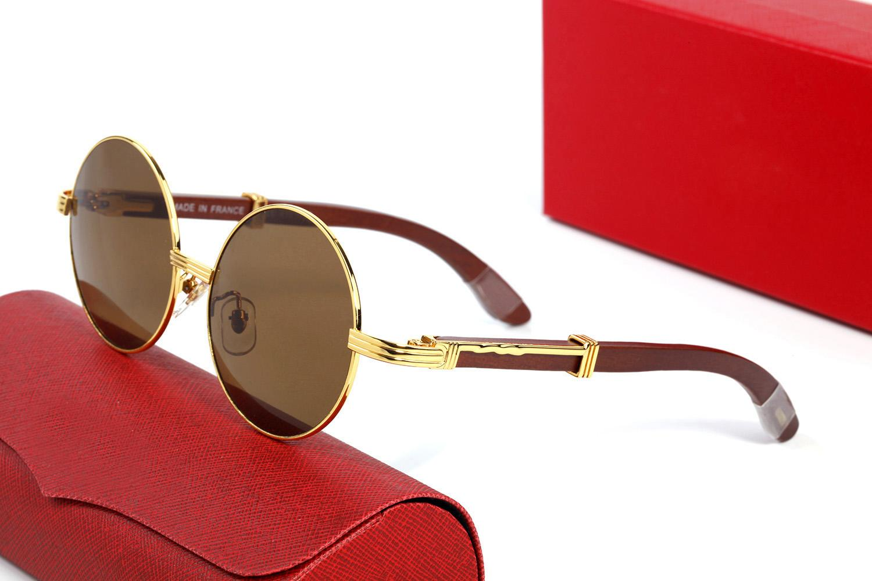 Yuvarlak Tam Çerçeve Güneş Gözlüğü Tasarımcı Erkek Güneş Gözlükleri Kadın Unisex Vintage Retro Altın Gümüş Metal Çerçeveleri Gözlük Orijinal Kutuları ile 54-18-140mm