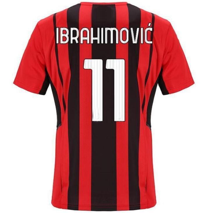 Dostosowane 21-22 11 Ibrahimovic Thai Quality Soccer Jerseys 56 SaelemaeKers 79 Kessie 3 Maldini 4 Bennacer 7 S.castilleo Custom Koszulki