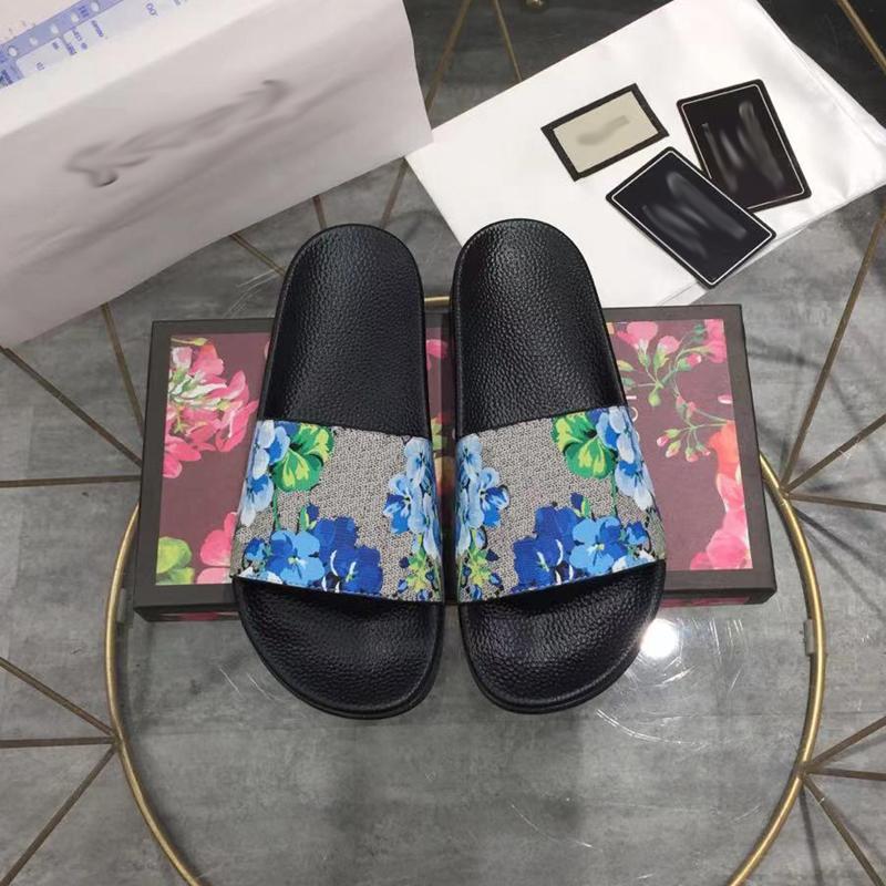 Designer slides homens mulheres chinelos sandálias de verão Sliders de praia plataforma plana floral brocado serpente impressão senhoras bee sandali banheiro sapatos home