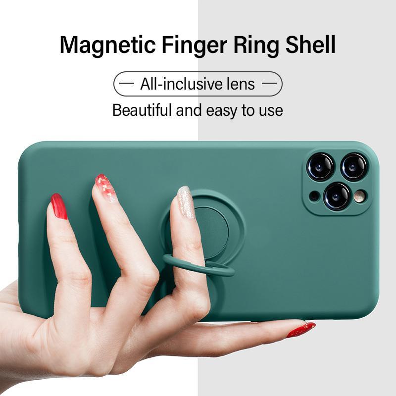 아이폰 12 11 Pro Max XS 미니 X XR 7 8 6 플러스 iPhone12 iPhone11 8 플러스 커버 링 홀더 스탠드와 함께 커버