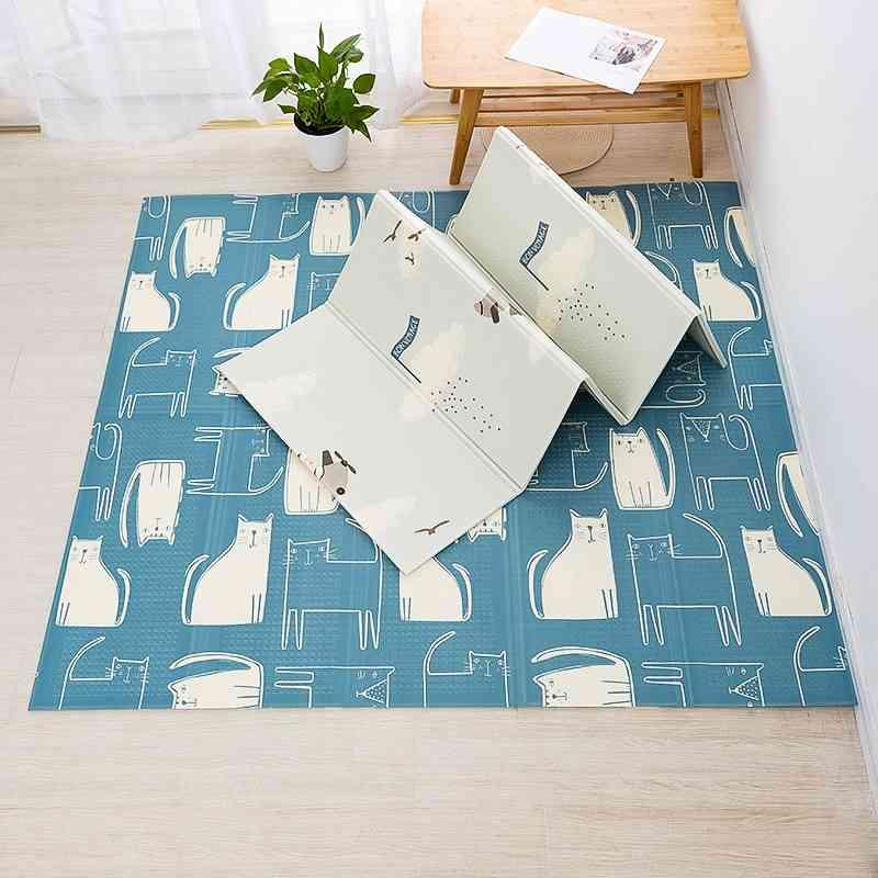 New Baby Mat Foldable Crawling Play Mat Room Thick Rug Kids Foam Carpet for Toddlers XPE Double Sided Puzzle Game Gym Activity 210401