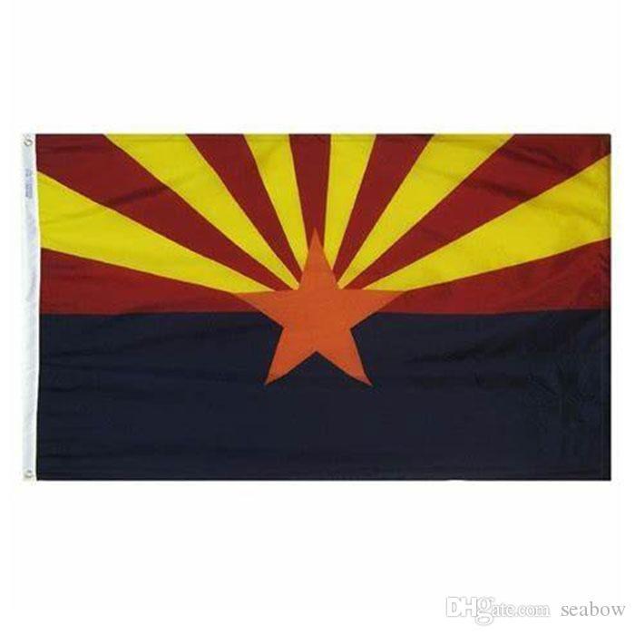 Arizona-Flagge Bundesstaat USA Banner 3x5 ft 90x150cm Festival Party Geschenk Sport 100D Polyester Indoor Outdoor Printed Heißer Verkauf