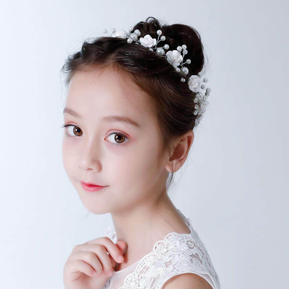 Kopfschmuck des Mädchens Kinder Kopfschmuck Prinzessin Krone Haarnadel Korea Schöne Kopfschmuck Mädchen Haarband Blume Kinder Leistung Zubehör Stirnband