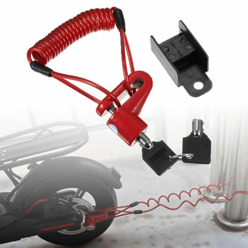 Blocchi bici Serratura per scooter elettrico Anti-furto in acciaio in acciaio Bicycle Disc Freni a disco Ruote Armadietto Accessori per ciclismo
