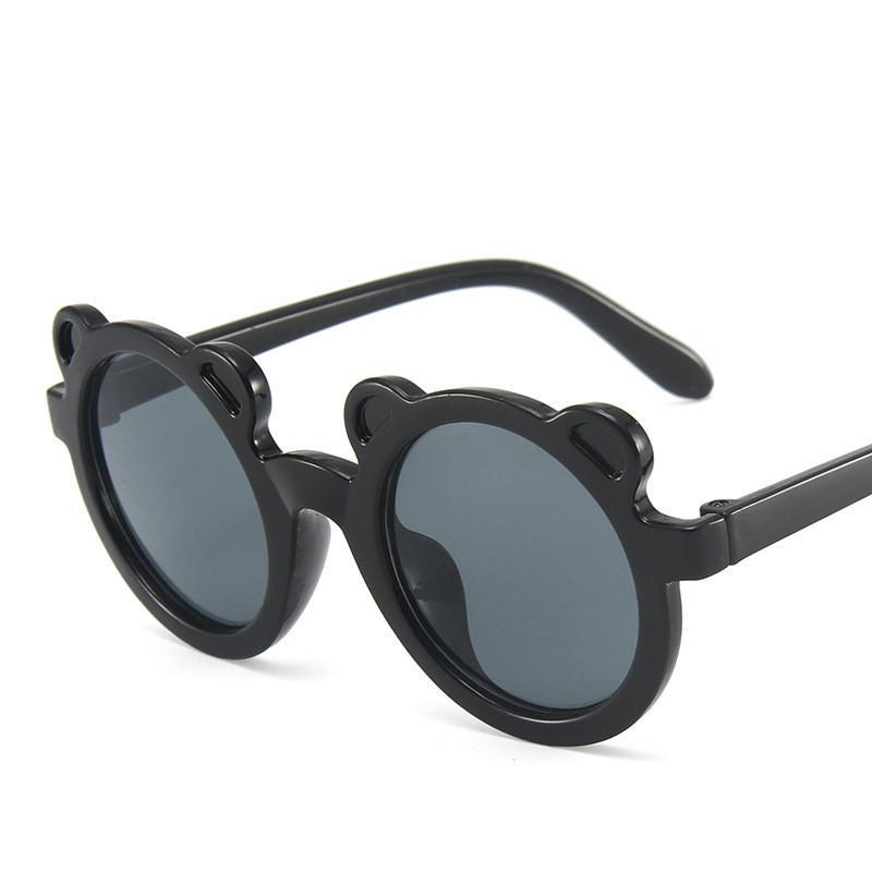 Niños retro redondo lindo gafas de sol chicas niños vidrios decorativos al aire libre niños gafas de sombra gafas de sol de moda
