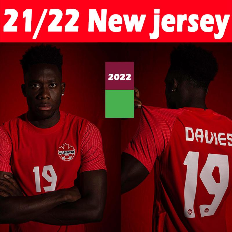 The Lates 21/22 Canadá Jerseys de fútbol Jerseys Nacional Inicio Kits 2021 2022 Davies David Larin Cavallini Laryea Millar Hoilett Hombres Jersey Camisetas Thai S-2XL