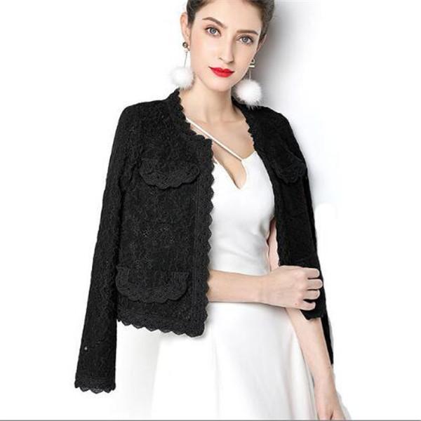 2021 primavera e autunno nuova giacca da donna cardigan temperamento sottile vestito da donna giacche da donna in pizzo cappotto corto vestiti