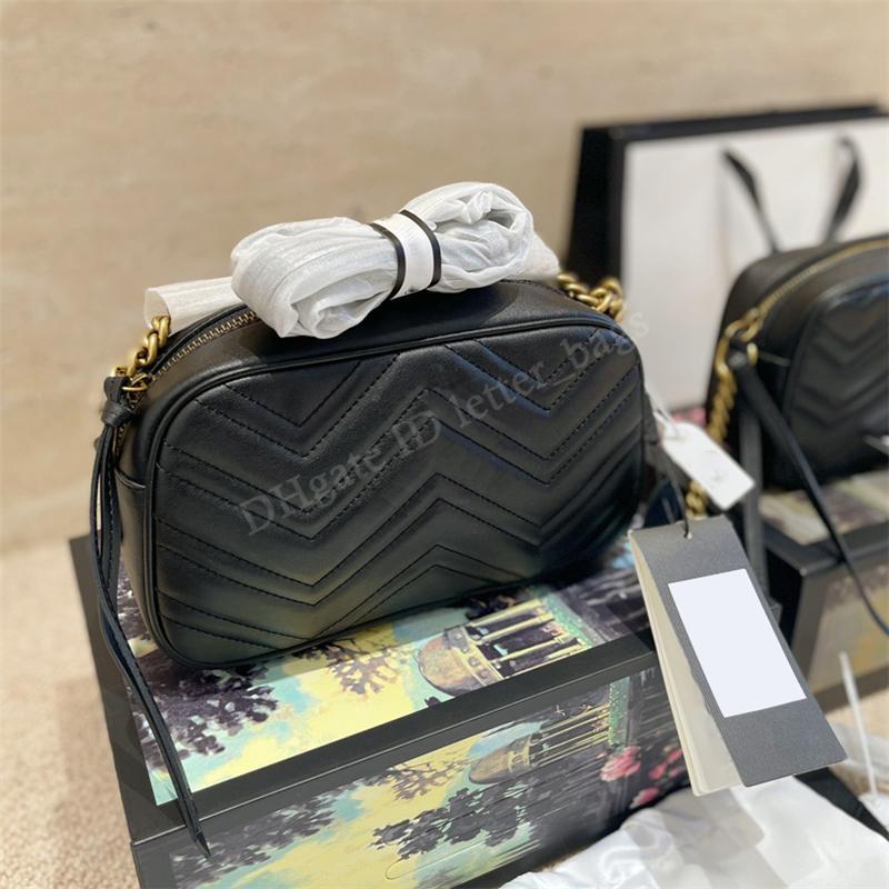 أزياء المراهنات محفظة Marmont كاميرا الكتف حقيبة crossbody حقائب جلدية مزدوجة g اللحف حقائب اليد حقائب اليد فاخر مصممين أكياس 2021 حقيبة يد محفظة