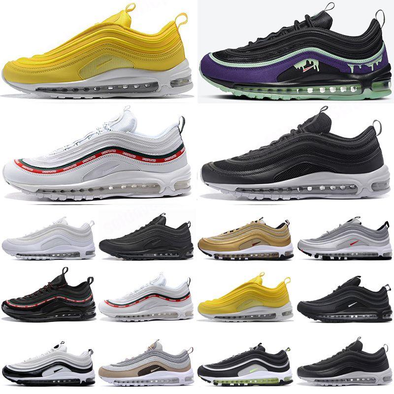 Air Max 97 Toptan kpu Ayakkabı Turuncu Gri Siyah Beyaz Yastık Spor Sneakers Erkekler Atletik des Chaussures Eğitmenler Zapatos Boyut 13 Running 2017 Mens
