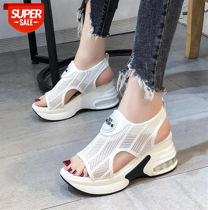 white Women Sandals Platform Breathable Comfort Shopping Ladies Walking Shoes Wedge Heels Summer Sandal Mujer #Sf8M