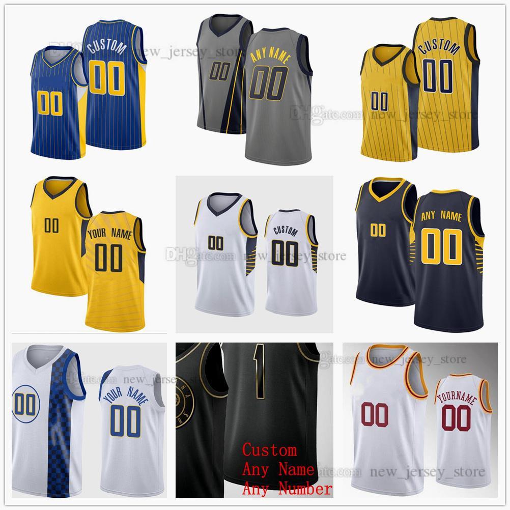 Jerseys de baloncesto impreso personalizado 23 Jackson 8 Justin 9 McConnell Holiday 88 Goga Bitadze 3 Chris Duarte 28 Keifer Sykes Duane 37 Amida Brimah Dejon Jarreau Jersey