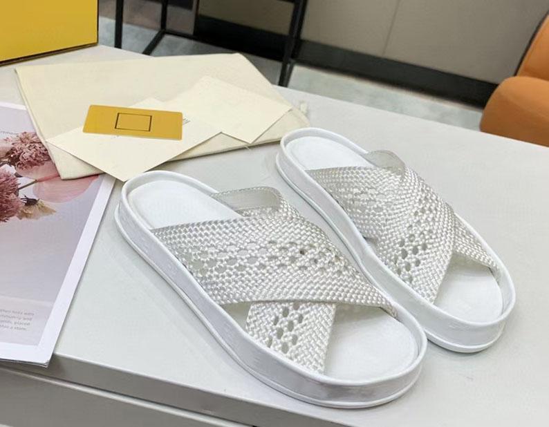 Paglia 2021 scava fuori pantofole da donna tacco spesso tacco piatto fondo multi colore open toe qualità moda esterna cuneo taglia 35-41