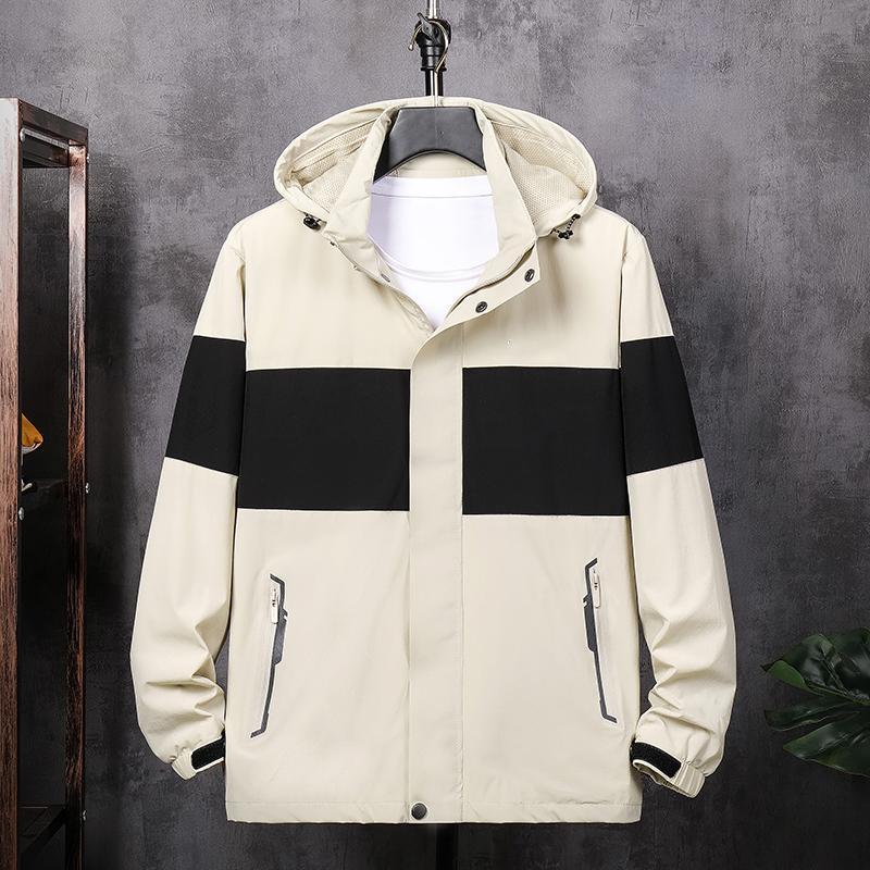 Nedensel Erkekler Kapüşonlu Ceketler İlkbahar Yaz Sonbahar İnce Erkek Mons Moda Tasarım Siyah Mavi Haki Genç Guylar Streetwear L-4XL BH-2091