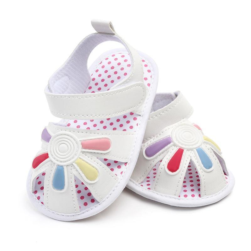 الصنادل أحذية طفل جميل زهرة الصيف ولد فتاة لينة وحيد عدم الانزلاق طفل الرضيع مع قابل للتعديل