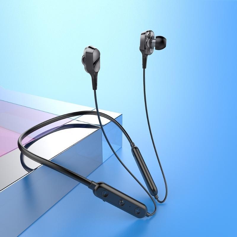 Lettori MP4 5.0 Bluetooth auricolare senza fili auricolare auricolare auricolari sportivi da gioco musicale hifi surround suono radice del suono con microfono