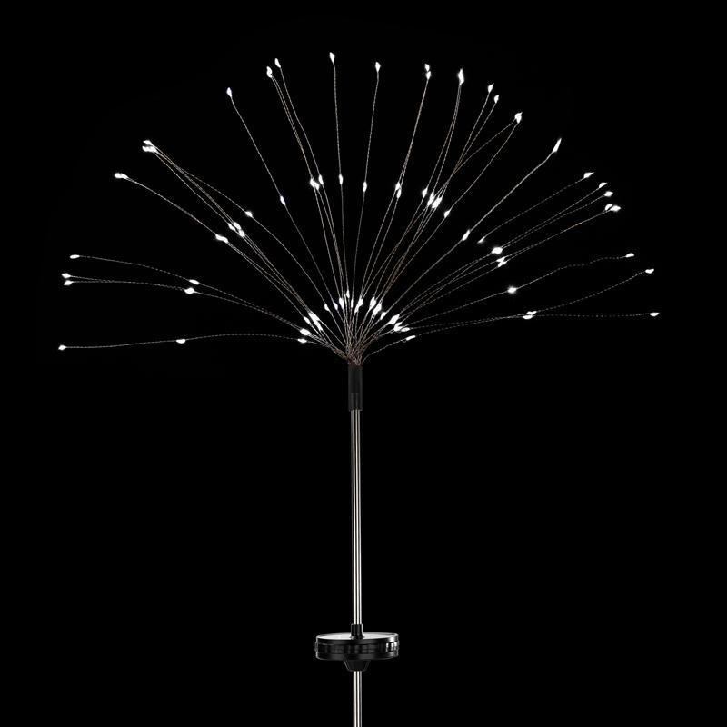 2/8 Modos 90 120 150LEDS LED Solar Fireworks Luzes Ao Ar Livre Luzes À Prova D 'Água Para Christmas Holiday Street Decoration