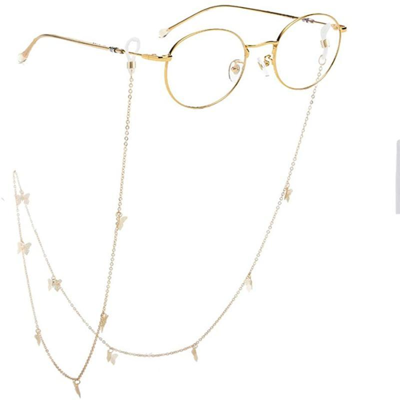 Chains 2021 European And American Fashion Glasses Chain Mask Rack Simple Personality Butterfly Women Can Be Wholesale