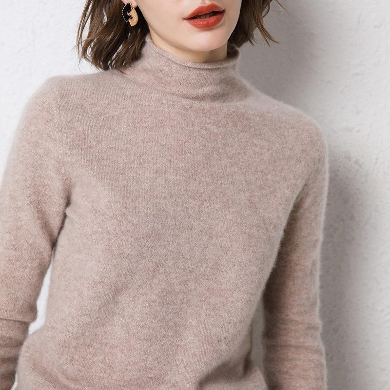 Sweater surdimensionné d'hiver Sweach surdimensionné Hemmed High-High High High-Highpover Pull en cachemire tricoté
