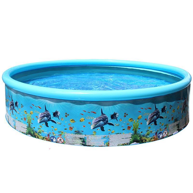 Poolzubehör 49inches Aufblasbare Schwimmblasen für Familienkinder Hinterhof Faltbare Badewanne Kind Startseite GROSS L3