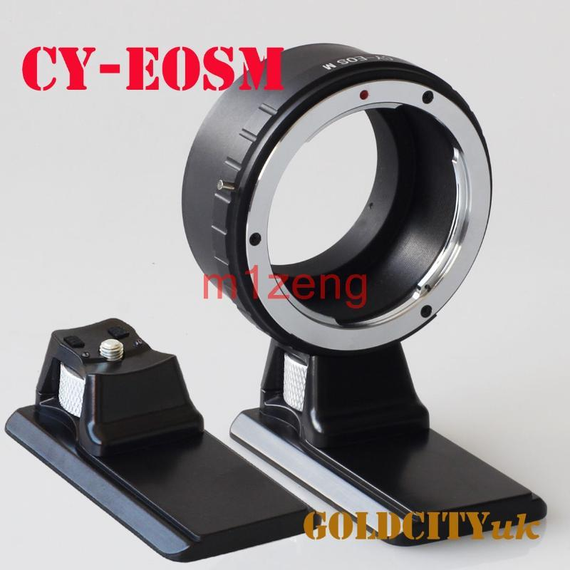Lens Adapters & Mounts Adapter Ring With Tripod For Contax/Yashics CY To EOSM EOS-M Mount EOSM/M2/M3/m5/m6/m50 EF-M Mirrorless Camera