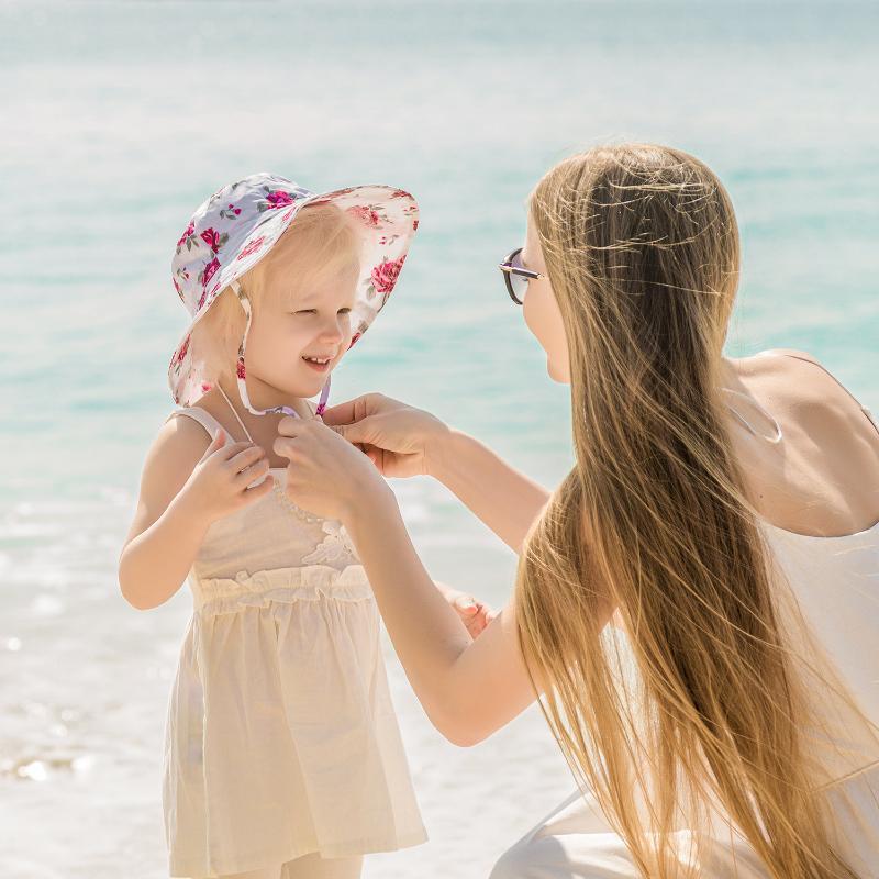 Caps & Hats Spring Summer Sunscreen Girl Cap Beach Baby Boy Hat Breathable Printing Children's Fisherman Bucket Kids