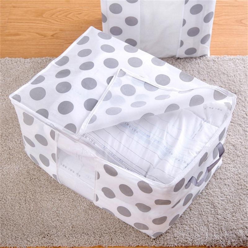 سلال قابلة للطي ملابس الفحم سترة بطانية خزانة المنظمون التخزين منظم طوي سستة حقيبة مربع 455 v2
