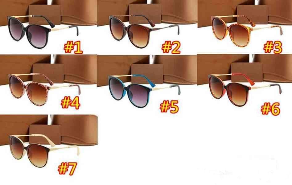 Lunettes de soleil de marque de marque de luxe pour femmes pour femmes pour la protection UV Style d'été Verres de visière extérieure de qualité supérieure