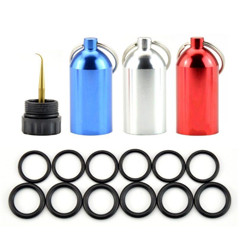 Mini serbatoio di immersioni subacquee di alluminio con 12 O anelli in ottone Pick Drive Key Chain Kit di riparazione di immersione 458 Z2