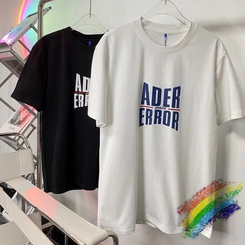 Men's T-Shirts 2021ss ader error t-shirt of the women high-quality blue men imprint adhere red arrow adher t-tops