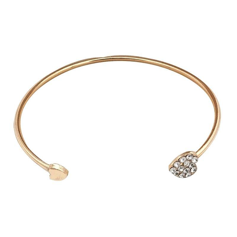 Cuff Factory wholesale cross-border style accessories love rhinestone crystal bracelet female jewelry
