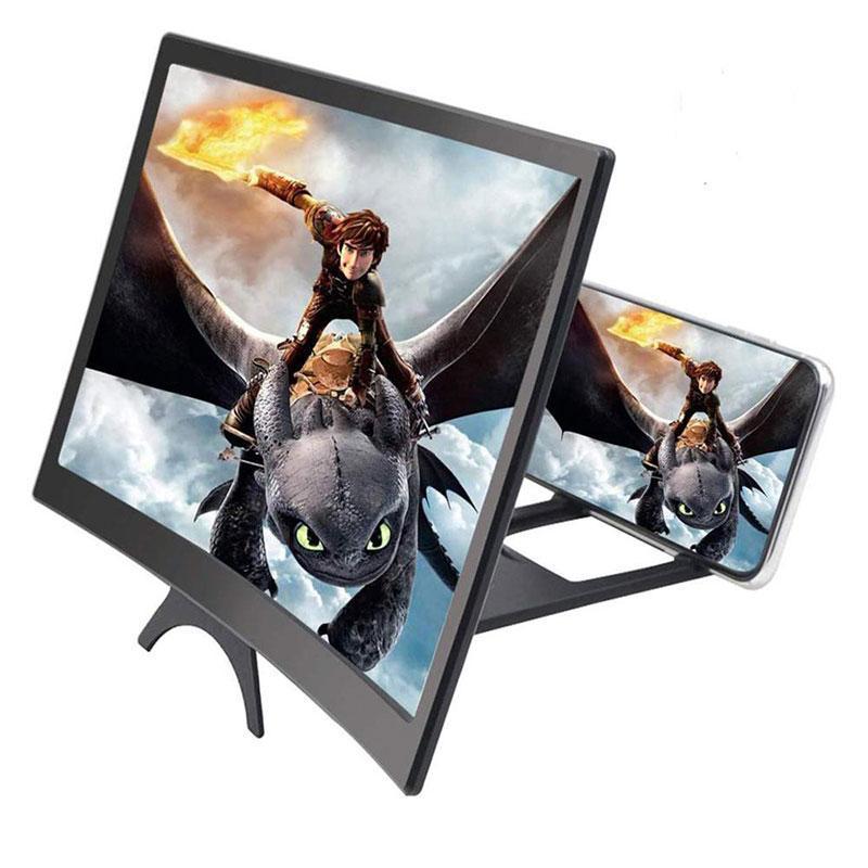 Lupa curvada de polegada para telefones Tela 3D Dobrável HD Telefone Projetor Suporte Suporte Mobile Cell Mounts Suportes