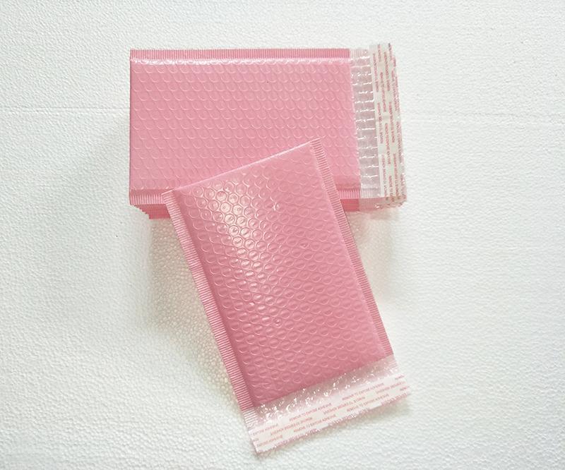 Hediye Wrap 5 Adet / grup 15x20 + 4 cm Açık Pembe Poli Kabarcık Mailer Zarflar Yastıklı Posta Çantası Self Sızdırmazlık Paket için Kullanımı
