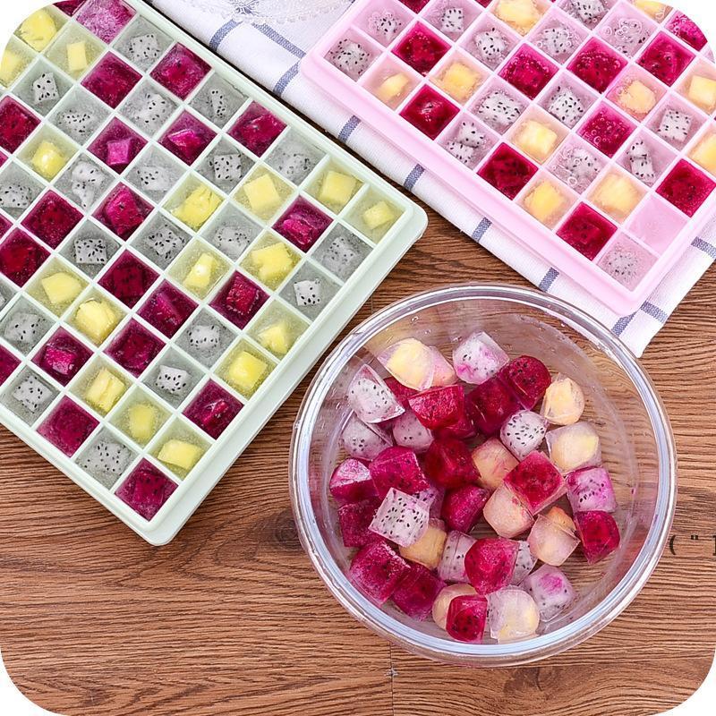 DIY Kreative 96 Gitter Kleine Eiswürfelform Quadratische Form Silikon Eisschale Obst Eiswürfel Maker Bar Küche Zubehör OWF6535