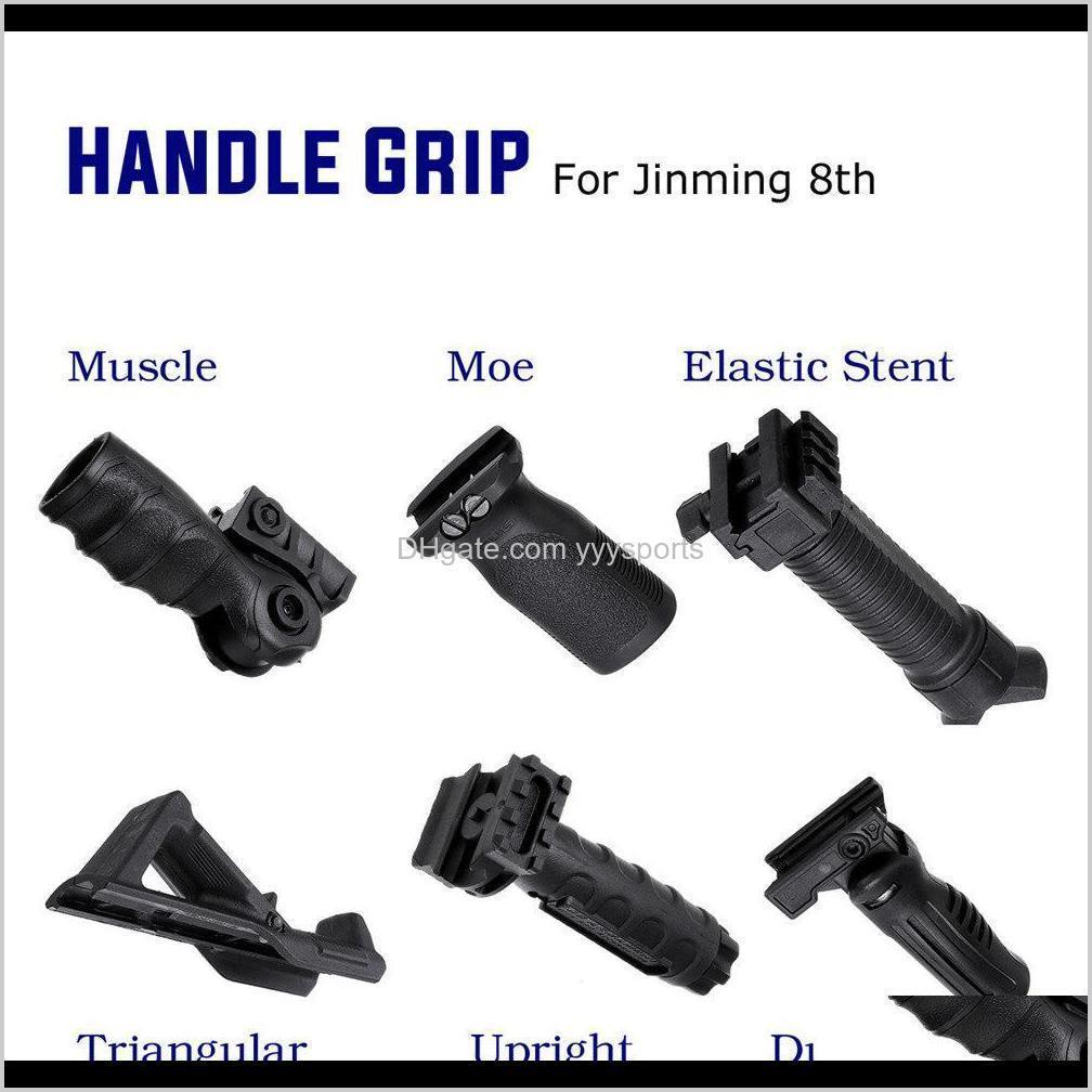 기타 기어 드롭 배달 2021 ABS 전술 Foregrip 손잡이 Grip Jinming 8th Gel Ball 게임 물 Toyguns 액세서리 IF8RW