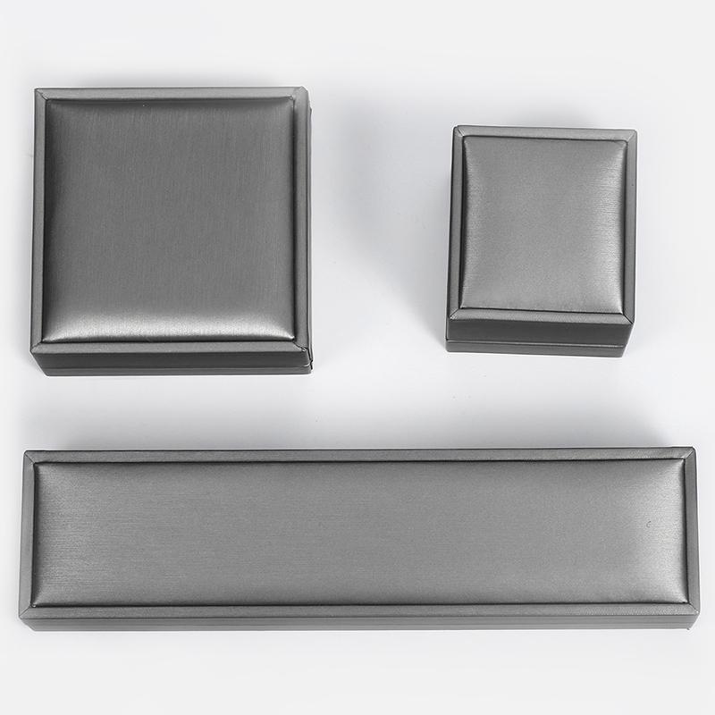 الحقائب المجوهرات، أكياس davieslee 1 قطعة هدايا مربع مربع لسوار قلادة خواتم أقراط حامل المنظم عرض المخملية رمادي lboxM01