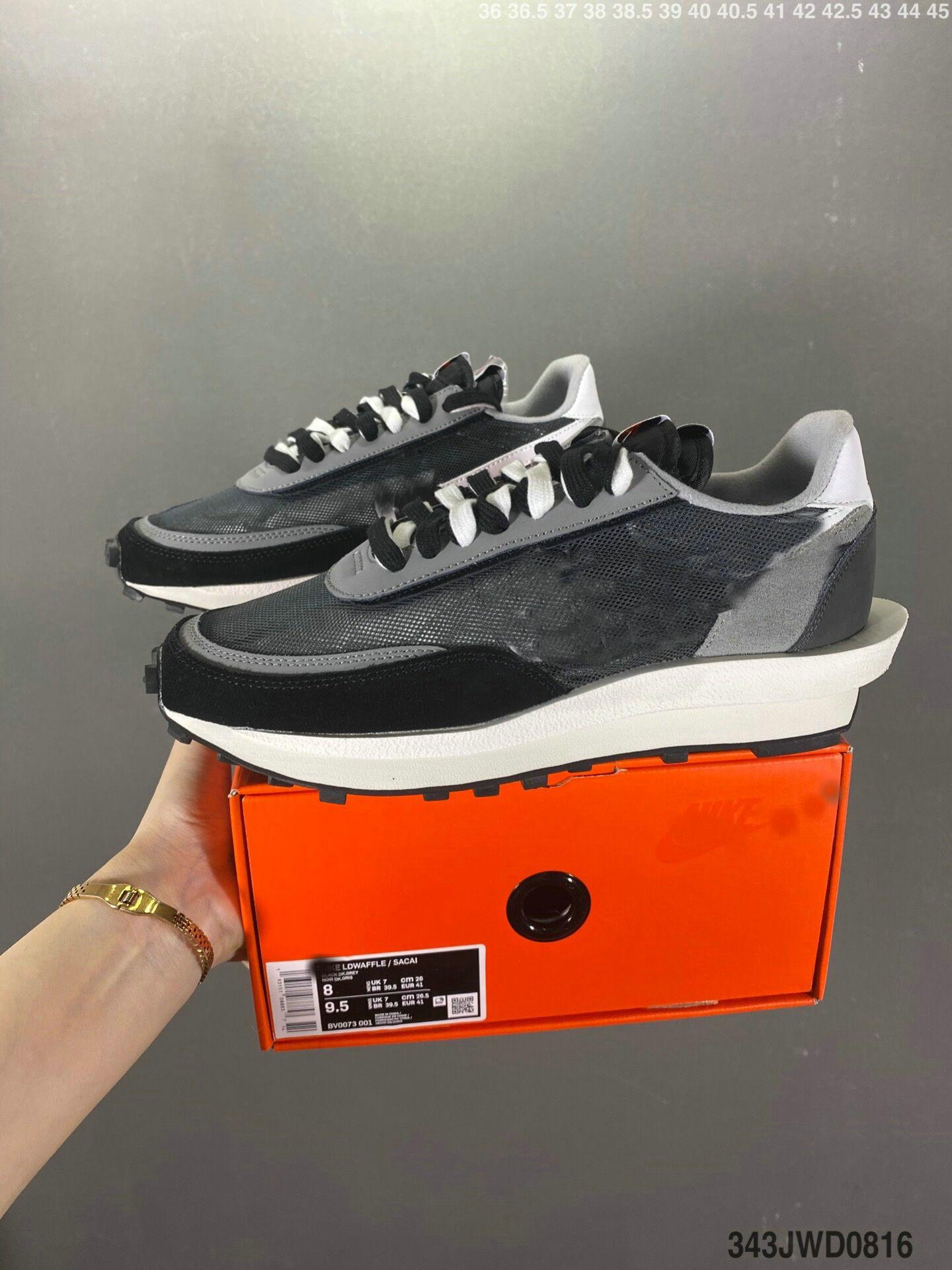 Kutu ile 2021 Erkekler Rahat Ayakkabılar Release X Vaporwaffle LDWaffle LDV Siyah Beyaz Yeşil Mavi Kırmızı Kadın Açık Spor Nefes Sneakersacai EUR Boyutu 36-45
