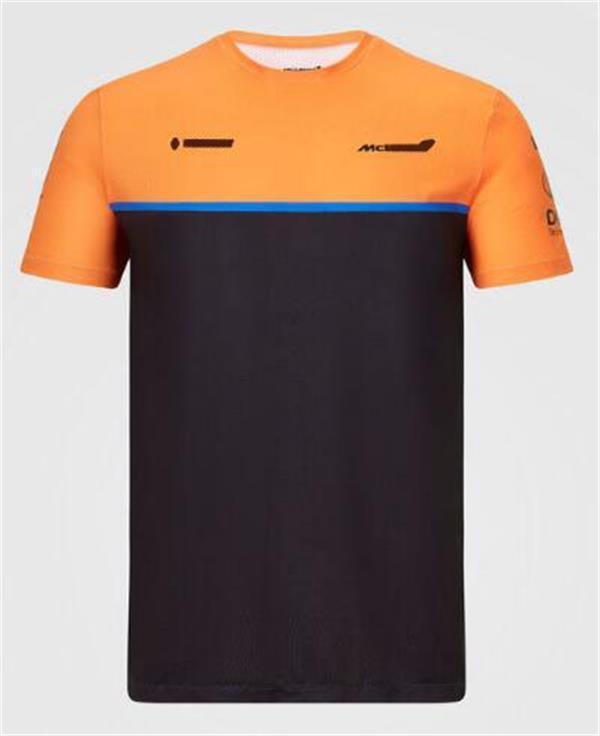 Vestito da corsa del team F1, T-shirt a maniche corte in poliestere a maniche lunghe da uomo in poliestere, logo con la stessa personalizzazione