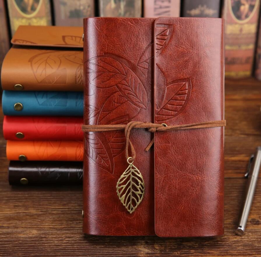 Creatividad retro espiral cuaderno diario Notepad PU cuero espiral literatura cuaderno libro reemplazable diario planificadores escuela papelería regalo