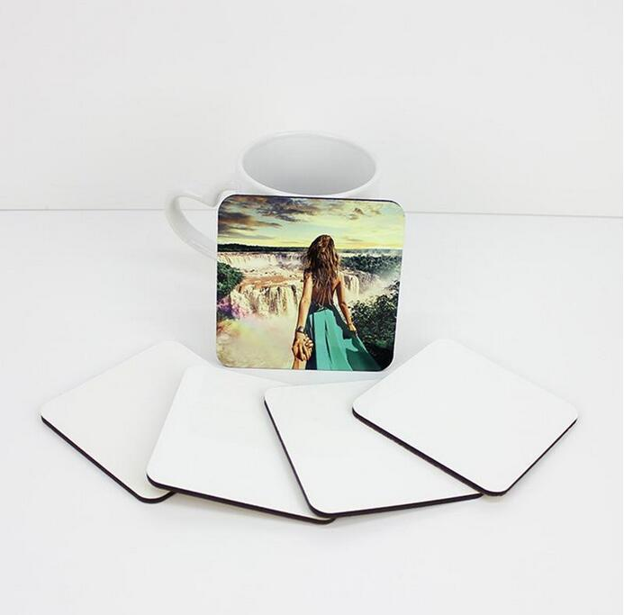 Sublimação em branco Tapete de madeira tapete quadrado transferência de calor diy coaster home decoração de desktop suprimentos de presente